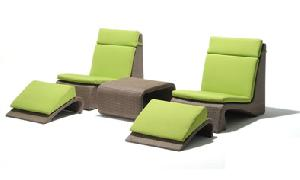 vietnam resin wicker beach chair 05359