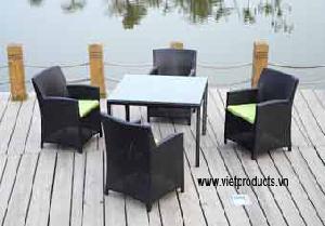 wicker garden table