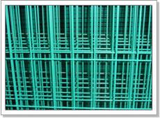 green pvc coated weld mesh panel
