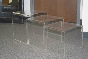 acrylic nesting tables 3pcs