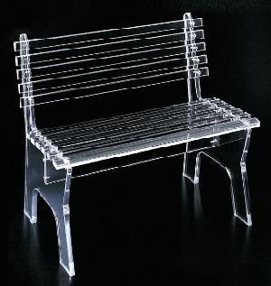 acrylic park bench