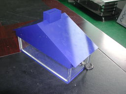 house shape acrylic charity box