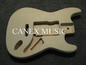 laminated wood guitar body