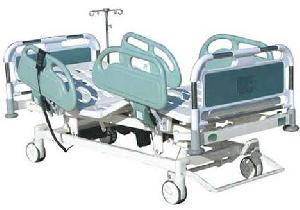 central controlled electric 5 nursing hospital bed plastic steel head