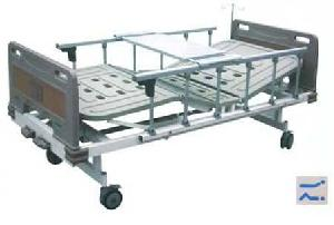 manual 2 rocker nursing hospital bed abs head surface truckles