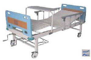 manual 2 rocker nursing hospital bed abs head truckles