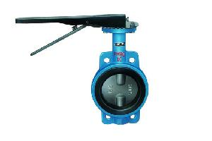 din cast iron wafer centric butterfly valves
