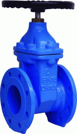 din flat body gate valve