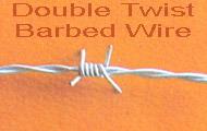 galvanized twist barbed wire