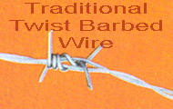 twist barbed wire