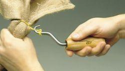 wire ties binding hessian bag plastic package