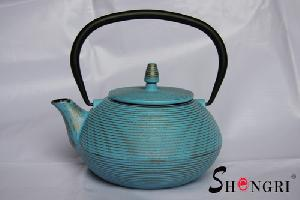 blue veins tea pot