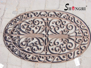 cast iron door mat oval srmd 3004