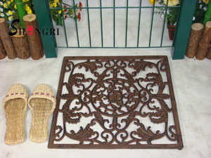 cast iron square door mat srmd 3017