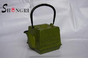 cast iron square kettle