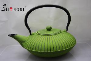 cast iron tea kettle striation surface