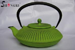emerald green tea kettle