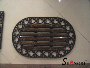 oval doorway coir mat