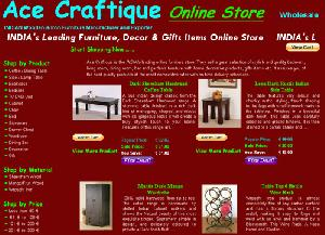 furniture shop store indian coffee table shopping