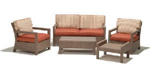 Synthetic Wicker Sofa Set 05358