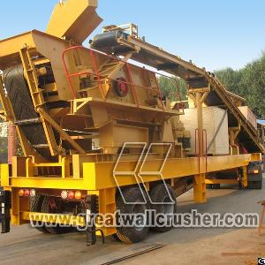 Y3s1548y900 Mobile Crushing Plant For Sale In 80 T / H Malaysia
