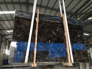China Dark Emperador Polished Marble Slabs Dark Color