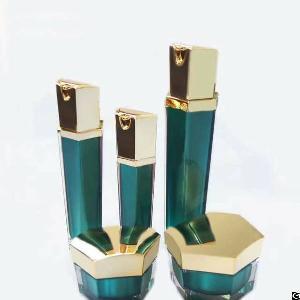 15ml 30ml 50ml hexagonal plastic cosemtic lotion pump bottle