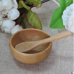 cosmetic bamboo spa bowl