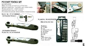 Multi-function Pocket Tool Set With Sockets Bits