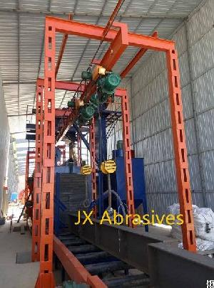 overhead conveyor shot blasting machine hook