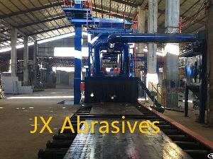 plate structure cleaning shot blasting machine
