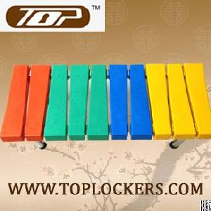 Plastic Locker Bench For Storage Room