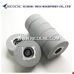 edge banding rubber roller wheel conveyor cnc pressure wheels edgebander