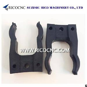 hsk e f 63 toolholder forks sk 40 tool gripper clips atc magazine