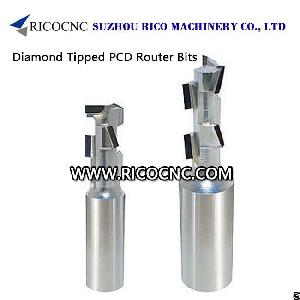 Ricocnc Diamond Tipped Pcd Cnc Router Bits For Wood Cnc Nesting