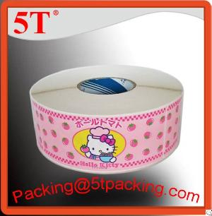 adhesive labels printed rolls