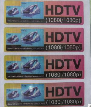 Hdtv Advertisement Information Labels