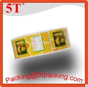 lemon juice printed labels rolls