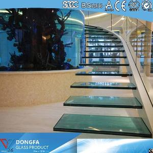 stair glass laminated