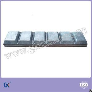 bimetal iron wear blocks chocky bars
