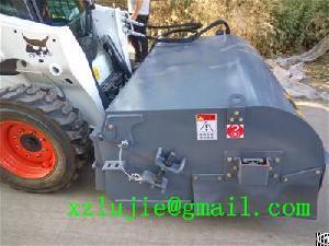 Xuzhou Lujie Box Sweeper Implements For Skid Steer Loader