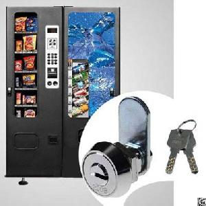 Vending Machine Lock, Zinc Alloy, Brass, Dimple Key, Nickel Plated