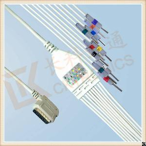 kenz pc 109 ecg cable 10 leadwires needle iec
