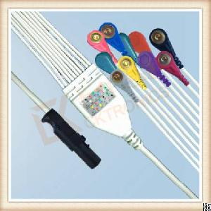 Excellent Quality And Factory Supply Burdick Eclipse Quinton Atria One Piece Ecg Cable, Snap, Aha
