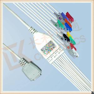 factory nihon kohden ecg cable screws clip aha