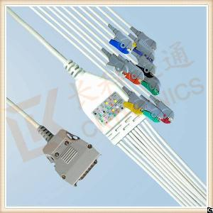 techical mortara ecg cable 10 leadwires clip iec