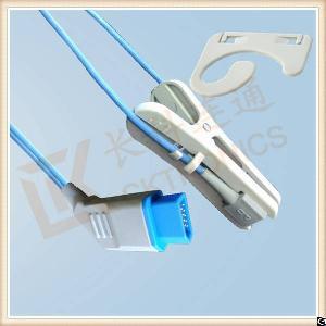 nihon kohden 14 pin adult ear clip reusable spo2 sensor l 3m