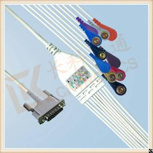 manufacturing philips ecg cable 10 leadwires snap aha