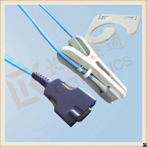 nellcor 14 pin reusable adult ear clip spo2 sensor oximax l 3m