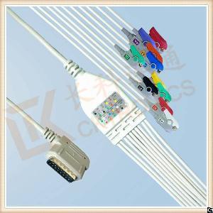 kenz pc 109 ecg cable 10 leadwires clip iec